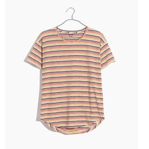 Madewell Whisper Cotton Crewneck Tee, Rainbow